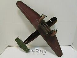 Vintage Marx Tin Wind Up Us Army Twin Prop Bomber