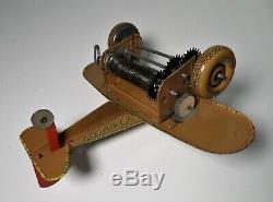 Vintage Marx Tin Windup Us Army Sparkling Airplane