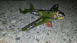 Vintage Marx Tin lithograph U. S. Army Plane USA/1950 Beautiful Vintage Condition