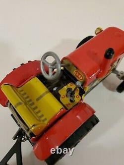 Vintage Marx Toys Farm Tin Litho Barn Silo withRamp, HTF Power Plant, Tractor
