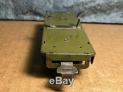 Vintage Marx Toys Military Load Car & Truck Tinplate & Steel 4 Wheel Model