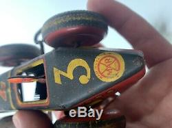 Vintage Marx Toys Tin Early Electric Track Toy Race Car 1940 1950s Litho Rare