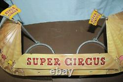 Vintage Marx Toys Tin Litho Super Circus Tent with Stage Rings- Not Complete