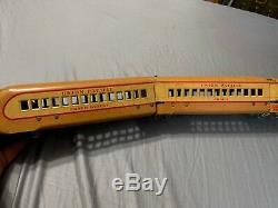 Vintage Marx Toys Union Pacific Railway Post Office Tin Train Railroad