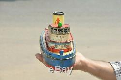 Vintage Marx Trademark Ship/Boat Litho Battery Tin Toy, Hongkong