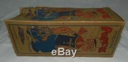 Vintage Marx Walking Popeye Tin Litho Wind-Up Toy with original Box, Working