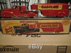 Vintage Marx Wind Up 1940's Gasoline Trailer Truck with ORIGINAL BOX! Nice