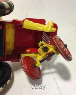 Vintage Marx Windup Tin Toy Sheriff Sam Marx Cowboy Jeep Original 50s