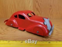 Vintage Marx Wyandotte Toy Car Coupe Pressed Steel Sedan Tin Toy Lot USA old toy