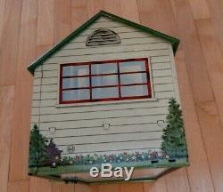 Vintage Metal Tin Marx Babyland Nursery Dollhouse and Accessories