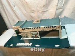 Vintage Mid Century Sears Automotive Center Marx Toys Tin Litho