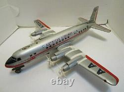 Vintage Modern Toys Japan American Airlines Battery Operated 4-prop Airplane