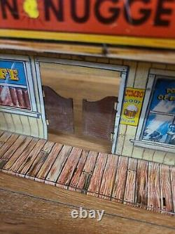 Vintage Original Marx alaskan playset trading post tin litho building