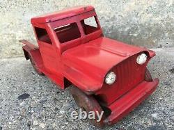 Vintage Pressed Steel MARX Willys Overland Willys Jeep Pickup Truck
