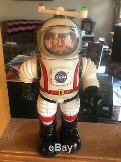 Vintage RARE Tin Toy Robot Marx NASA Colonel Hap Hazard 60s Complete WORKING