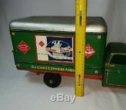 Vintage Rare Louis Marx & Co / Wyandotte Railway Express Truck with Lift Gate VGC