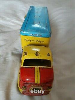 Vintage Roy Rogers truck & Marx Family Vacation Wagon (Wind Up)