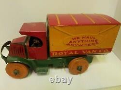 Vintage Royal Van Co Tin Marx Toy Truck