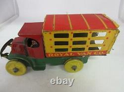 Vintage Royal Van Co Tin Marx Toy Truck 1-f
