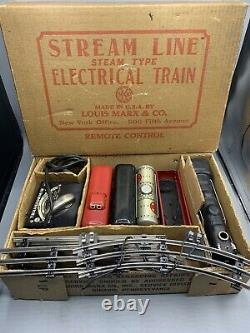 Vintage Stream Line Electric Train Set Louis Marx & Company Boxed Model No. 8994