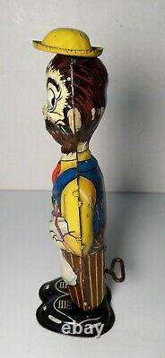 Vintage Tin Litho Marx B. O. Plenty Windup Toy Dick Tracy Baby Sparkle Works
