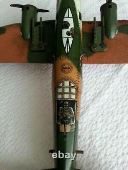 Vintage Tin Litho Marx Toys Bomber