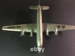 Vintage Tin Toy Airplane. Marx. DC4