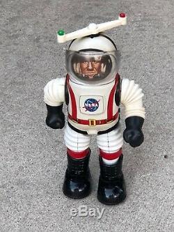 Vintage Tin Toy Robot Marx NASA Colonel Hap Hazard 1960s Complete WORKING