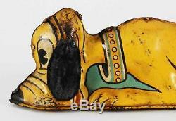Vintage Walt Disney Pluto Dog Wind Up Tin Toy Litho Lithograph Toy Marx 1939