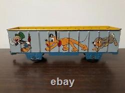 Vintage Walt Disney's Mickey Mouse Meteor Train Tin Wind Up 1950's Marx Toys