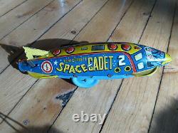 Vintage tin Space Toy Tom Corbett Space Cadet Marx not japan