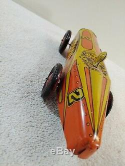 Vintage tin litho Wind Up Indianapolis 500 Indy Race Car Works