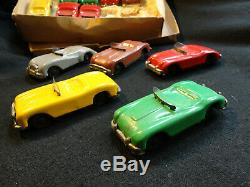 Vtg 1940-50s Linemar Race Cars Set Twelve (12) Orig Box- Nevr Played Wth-tin