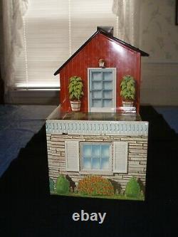 Vtg 1957 Marx Tin Litho 2 story 6 room House features Utility Rm & ABC Nursery