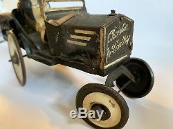 Vtg. MARX Tin Litho Charlie McCarthy Edgar Bergen Crazy Car Windup, 1930s