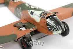 Vtg Marx Tin Litho Sparkling Aeroplane Military Camouflage Windup Airplane L@@K