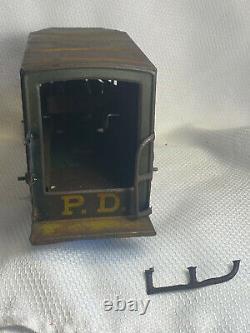 Vtg Marx Toys Police Patrol 3rd Precinct Paddy Wagon Wind Up Tin Toy
