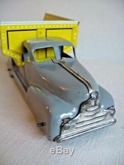 Vtg Toy Marx Metal Press Steel Sand and Gravel Dump Truck Tin Litho