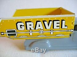 Vtg Toy Marx Metal Press Steel Sand and Gravel Dump Truck Tin Litho