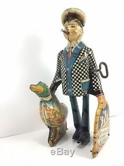 Wanna Buy A Duck Joe Penner Vintage 1930s Mechanical Wind Up Tin Marx Toy